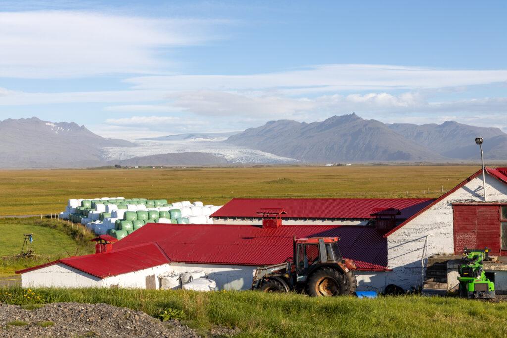Guesthouse Nýpugarðar ● Blick zum Fláajökull ● ©2020