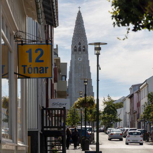 Reykjavík ● Straßenszenen ● Plattenladen '12 Tónar' in der Skólavörðustígur ● ©2020