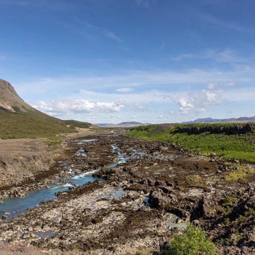 Þjófafoss ● wenig Wasser in der Þjórsá ● ©2021